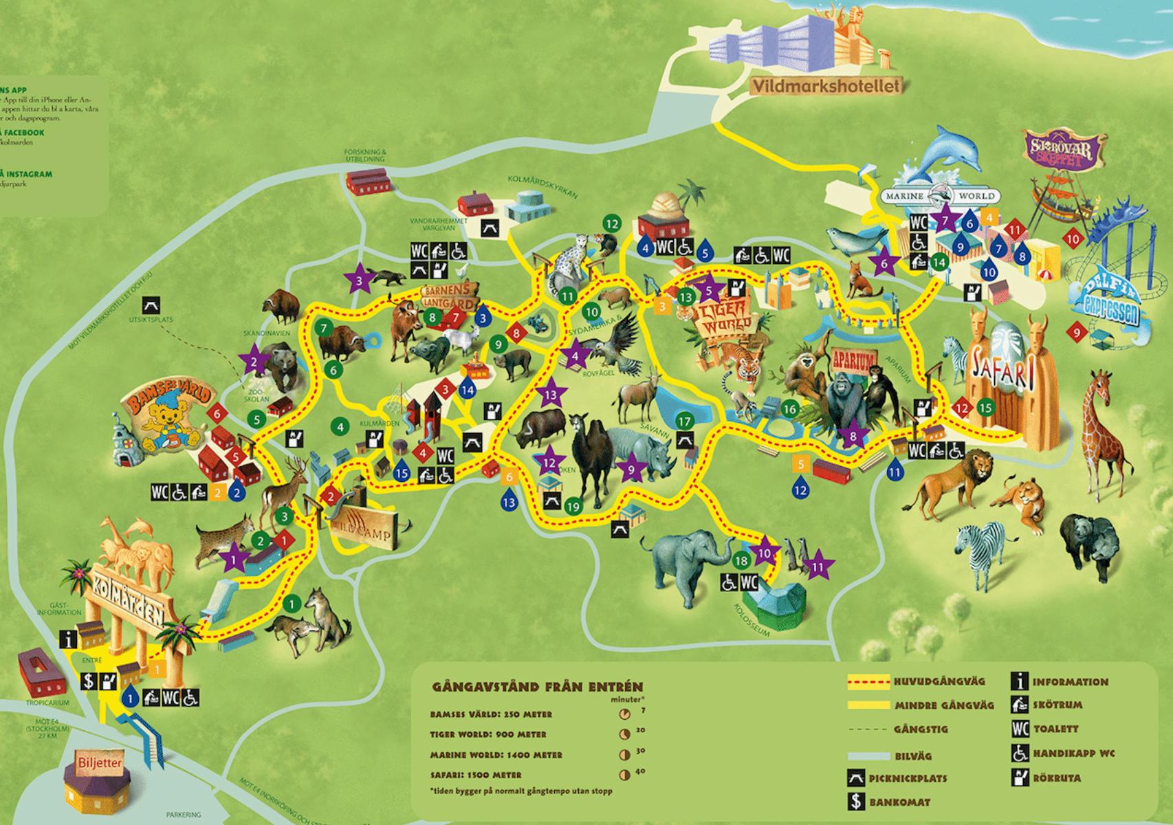 kolmården djurpark karta-min
